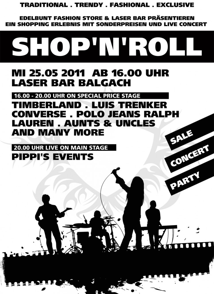 EVENT PLAKAT SHOP N ROLL