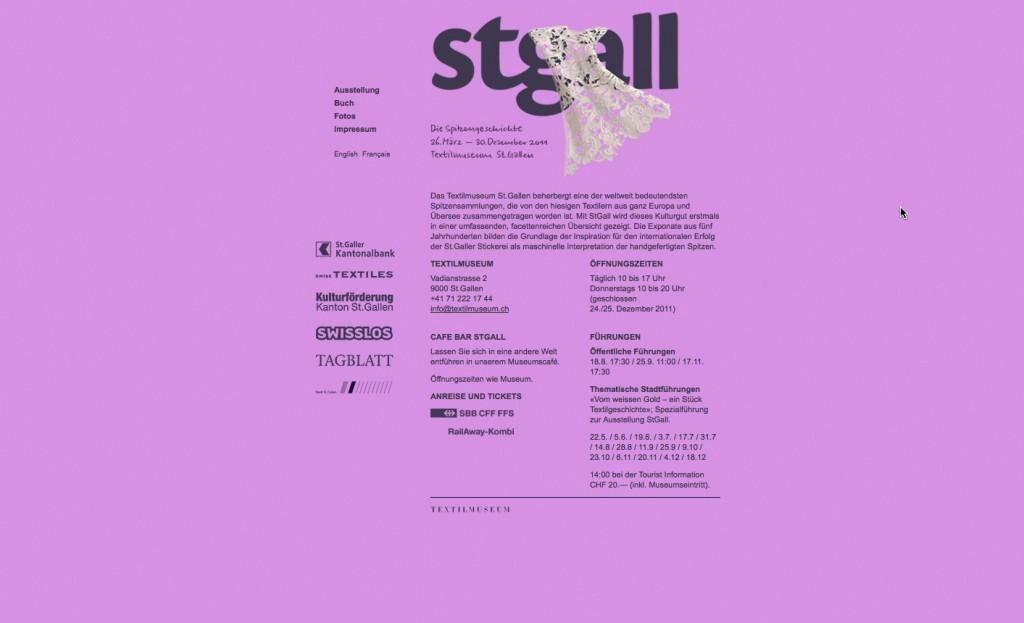 STGALL AUSSTELLUNGSWEBSITE