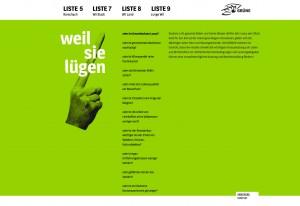 MAHNFINGER / WAHLWEBSITE GRÜNE WIL