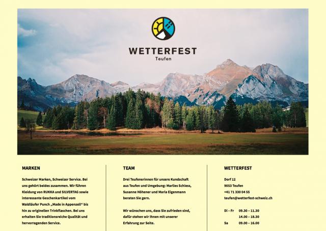 WETTERFEST SCHWEIZ / TEUFEN LANDING PAGE